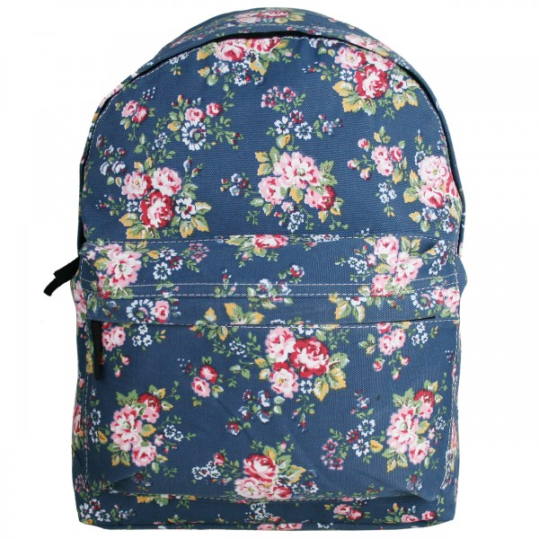 E1401MF - Miss Lulu Large Backpack Flower Navy
