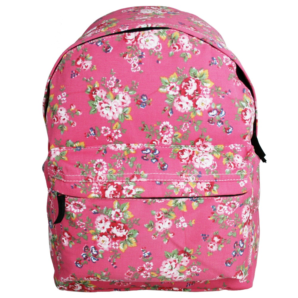 e1401mf miss lulu rucksack blumen dunkelrosa. Black Bedroom Furniture Sets. Home Design Ideas
