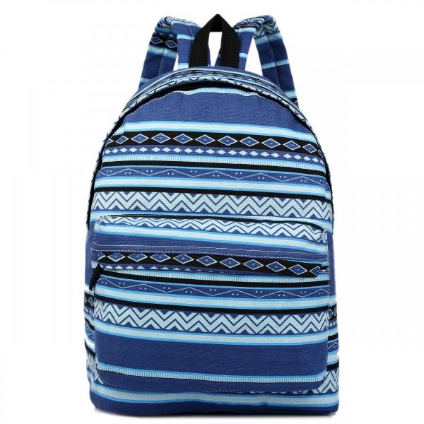 E1401AZ - Miss Lulu Large Backpack Aztec Blue