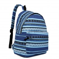 E1401AZ - Miss Lulu Large Backpack Aztec Blue
