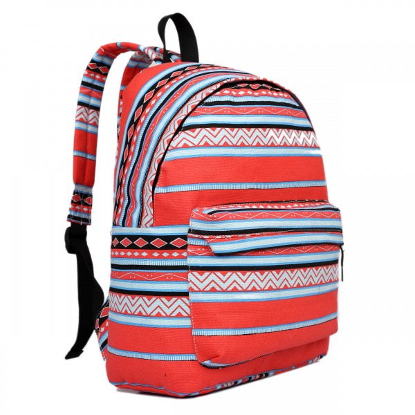 E1401AZ - Miss Lulu Large Backpack Aztec Red