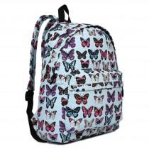 E1401B - Miss Lulu Large Backpack Butterfly Blue
