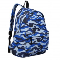E1401C - Miss Lulu Large Backpack Camo Blue