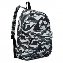 E1401C - Miss Lulu Large Backpack Camo Grey