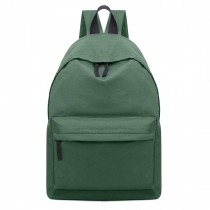 E1401 - Miss Lulu Large Plain Unisex Backpack Green