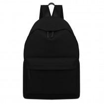 E1401 - Miss Lulu Large Plain Unisex Backpack Black