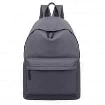 E1401 - Miss Lulu Large Plain Unisex Backpack Grey