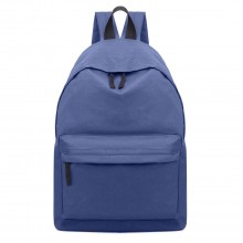 E1401 - Miss Lulu Large Plain Unisex Backpack Navy