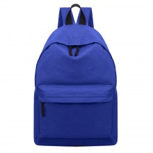 E1401 - Miss Lulu Large Plain Unisex Backpack Blue