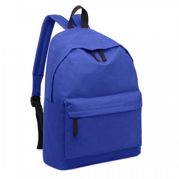 E1401 - Miss Lulu Large Plain Unisex Backpack Blue