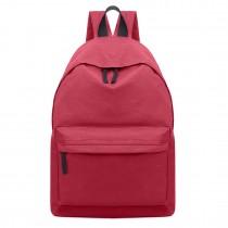 E1401 - Miss Lulu Large Unisex Backpack Dark Red