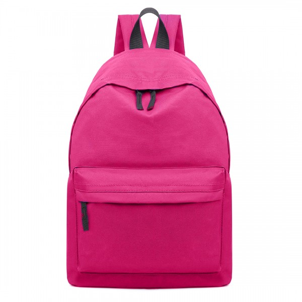 E1401 - Miss Lulu Large Plain Unisex Backpack Plum
