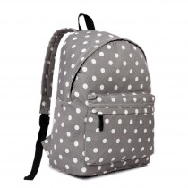 E1401D2 - Miss Lulu Large Backpack Polka Dot Grey