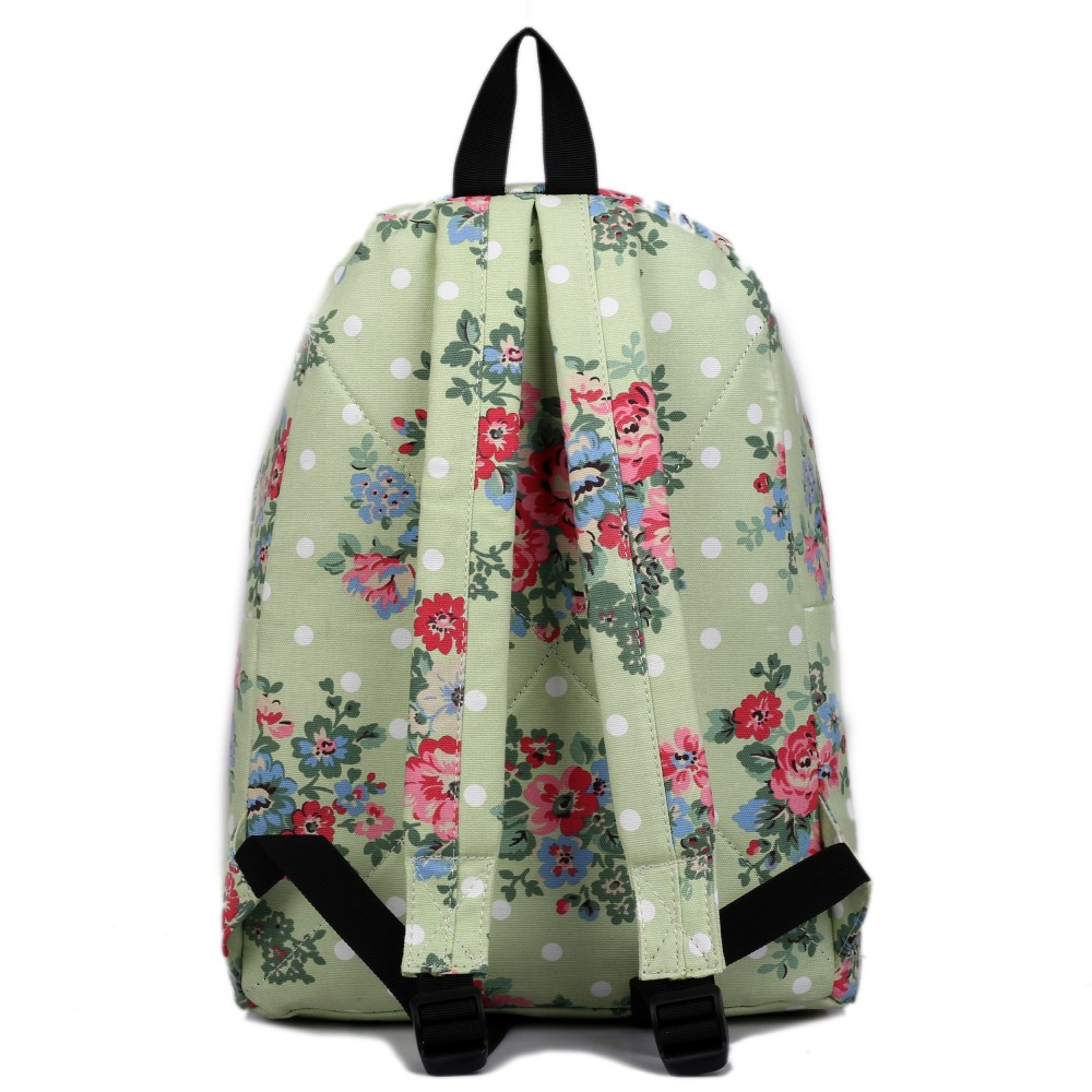 e1401f miss lulu rucksack blumen gepunktet gr n. Black Bedroom Furniture Sets. Home Design Ideas