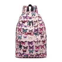 E1401B- panna Lulu Large Backpack Butterfly Pink