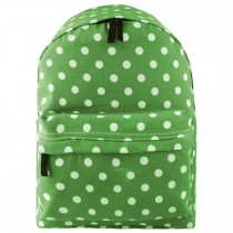 E1401D2 --Miss Lulu Large Backpack Polka Dot Green