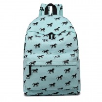 E1401H --Miss Lulu Large Backpack Horse Blue