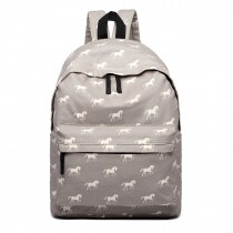 E1401H --Miss Lulu Large Backpack Horse Grey