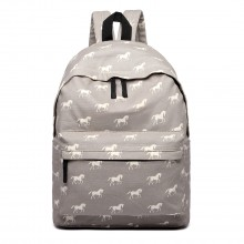 E1401H - Miss Lulu Large Backpack Horse Grey