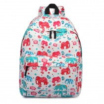 E1401NEW-E - Miss Lulu Large Backpack Elephant Beige
