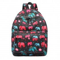 E1401NEW-E-Miss LuLu Large Backpack Elephant Black
