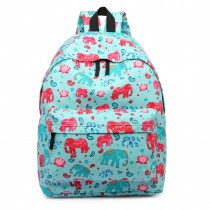 E1401NEW-E-Miss LuLu Large Backpack Elephant Light Blue