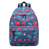 E1401NEW-E - Miss Lulu Large Backpack Elephant Navy