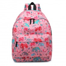 E1401NEW-E - Miss Lulu Large Backpack Elephant Pink