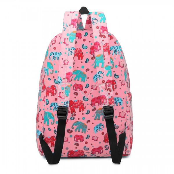 E1401NEW-E - Miss Lulu Large Backpack Elephant Pink