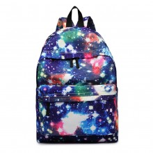 E1401U - Miss Lulu Large Backpack Universe Navy