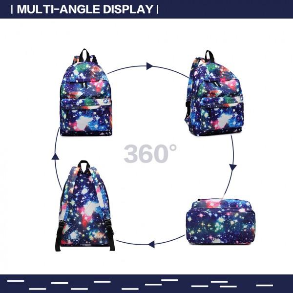 E1401U - Miss Lulu Large Backpack Universe Navy