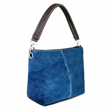 E1403 - Miss Lulu Suede Single Strap Handbag Navy