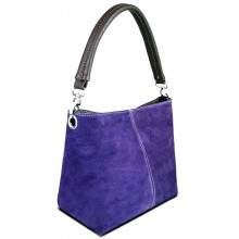 E1403 - Sac Miss Lulu sangle unique en daim violet