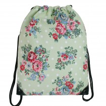E1406F - Unisex Drawstring Backpack Flower Green