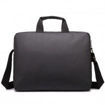 E1651 - Miss Lulu Simple Square Solid Colour Laptop Bag Black