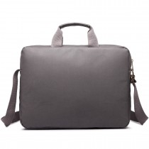 E1651 - Miss Lulu Simple Square Solid Colour Laptop Bag Grey