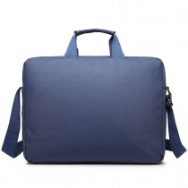 E1651 - Miss Lulu Simple Square Solid Colour Laptop Bag  Navy