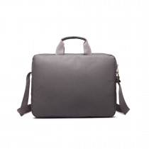 E1652 - Miss Lulu Simple Square Solid Colour Laptop Bag Small Grey