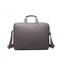 E1652 - sacoche simple pour ordinateur portable en toile imperméabilisé en gris