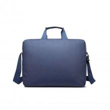 E1652 - sacoche simple pour ordinateur portable en toile imperméabilisé en bleu marine