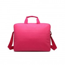 E1652 - Miss Lulu Simple Square Solid Colour Laptop Bag Small Plum