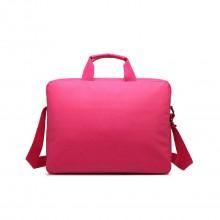 E1652 - sacoche simple pour ordinateur portable en toile imperméabilisé en rose