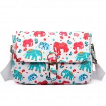 E1656NEW-Miss Lulu toile cirée mat dorable imprimé éléphant éléphant beige
