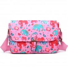 E1656NEW-Miss Lulu toile cirée mat doré floral éléphant éléphant imprimé rose