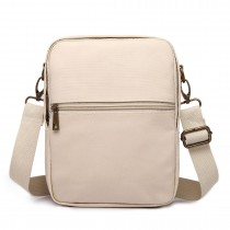 E1660-Miss LuLu Polyester Satchel Shoulder Messenger Bags Small Bags Beige