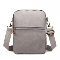E1660-Miss LuLu Polyester Satchel Shoulder Messenger Bags Small Bags Grey