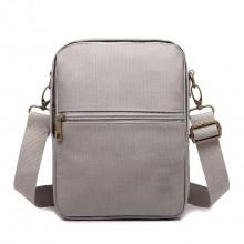 E1660 - Petite sacoche Miss Lulu pour homme en polyester gris