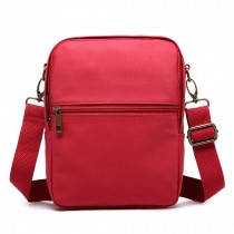 E1660-Miss LuLu Polyester Satchel Shoulder Messenger Bags Small Bags Burgundy