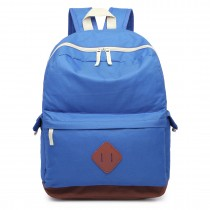 E1664 - Large Unisex Polyester School Backpack Blue