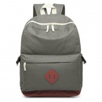 E1664 - Large Unisex Polyester School Backpack Grey